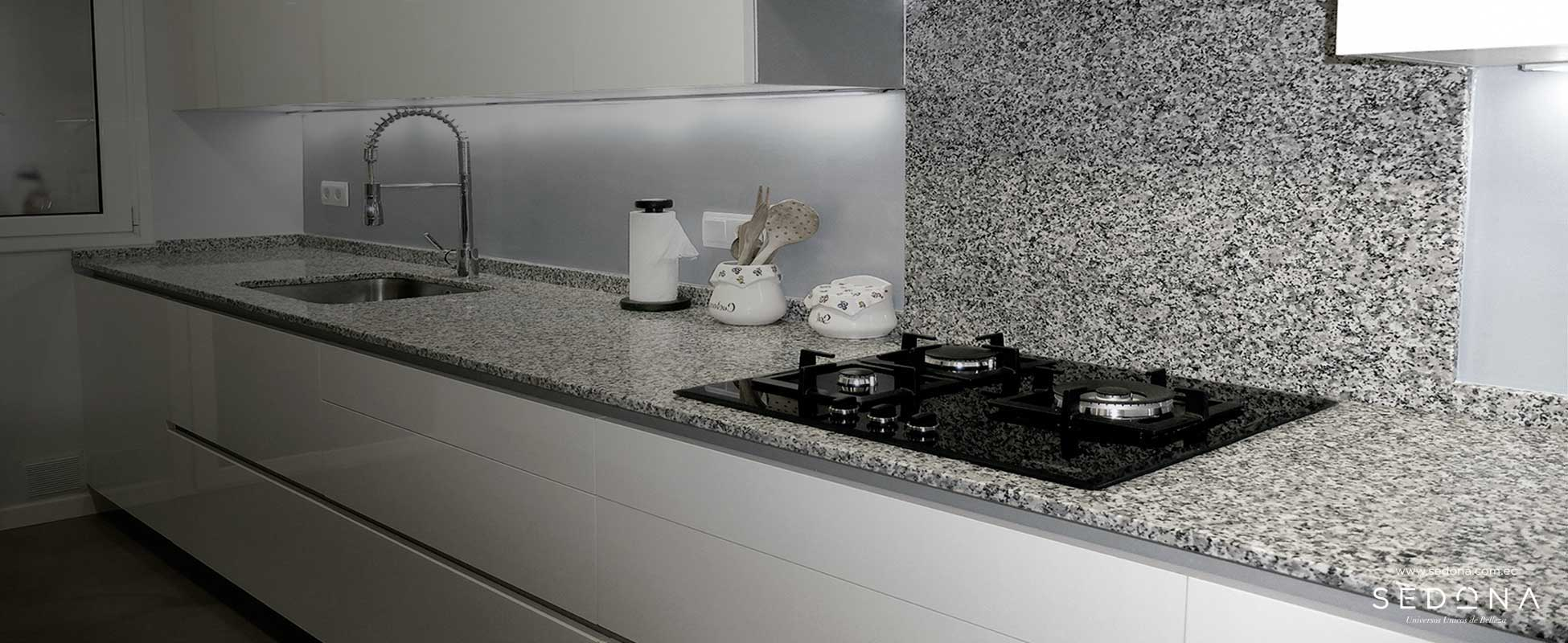Granito blanco cristal sedona importador directo for Granito blanco para cocina