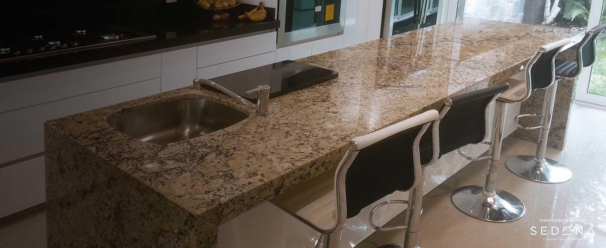 Sedona granitos ecuador granito cuarzo marmol travertino for Barra de granito para cocina precio